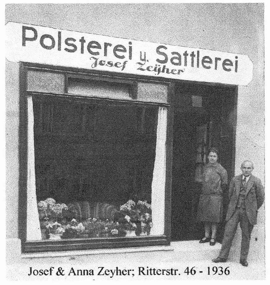 Josef und Anna Zeyher Polstereiin der Handwerksgeschichte der Polster-Experten.